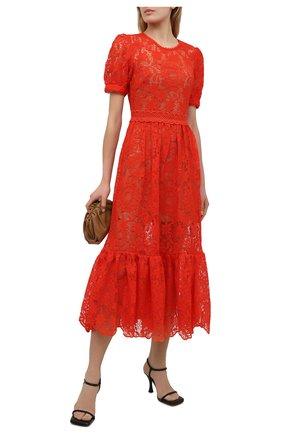 Женское платье SELF-PORTRAIT красного цвета, арт. SS21-098M | Фото 2