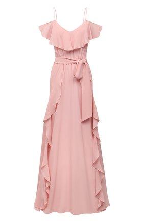Женское шелковое платье LAZUL розового цвета, арт. AYDA DRESS/R0SE BLUSH | Фото 1