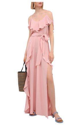 Женское шелковое платье LAZUL розового цвета, арт. AYDA DRESS/R0SE BLUSH | Фото 2