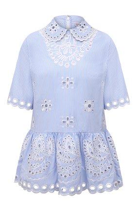 Женская хлопковая блузка REDVALENTINO голубого цвета, арт. VR0AA02U/5T4   Фото 1