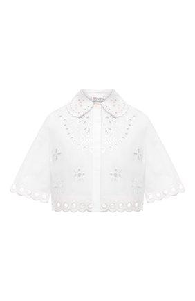Женская хлопковая блузка REDVALENTINO белого цвета, арт. VR0AA02S/5TC   Фото 1