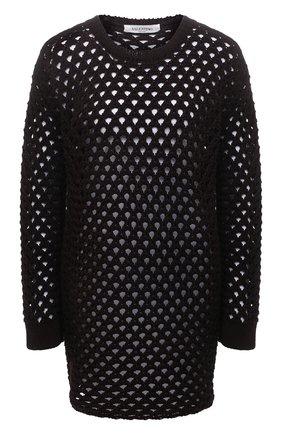 Женский хлопковый пуловер VALENTINO темно-коричневого цвета, арт. VB0KC23E6EV | Фото 1
