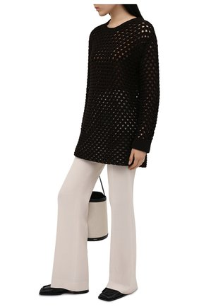 Женский хлопковый пуловер VALENTINO темно-коричневого цвета, арт. VB0KC23E6EV | Фото 2