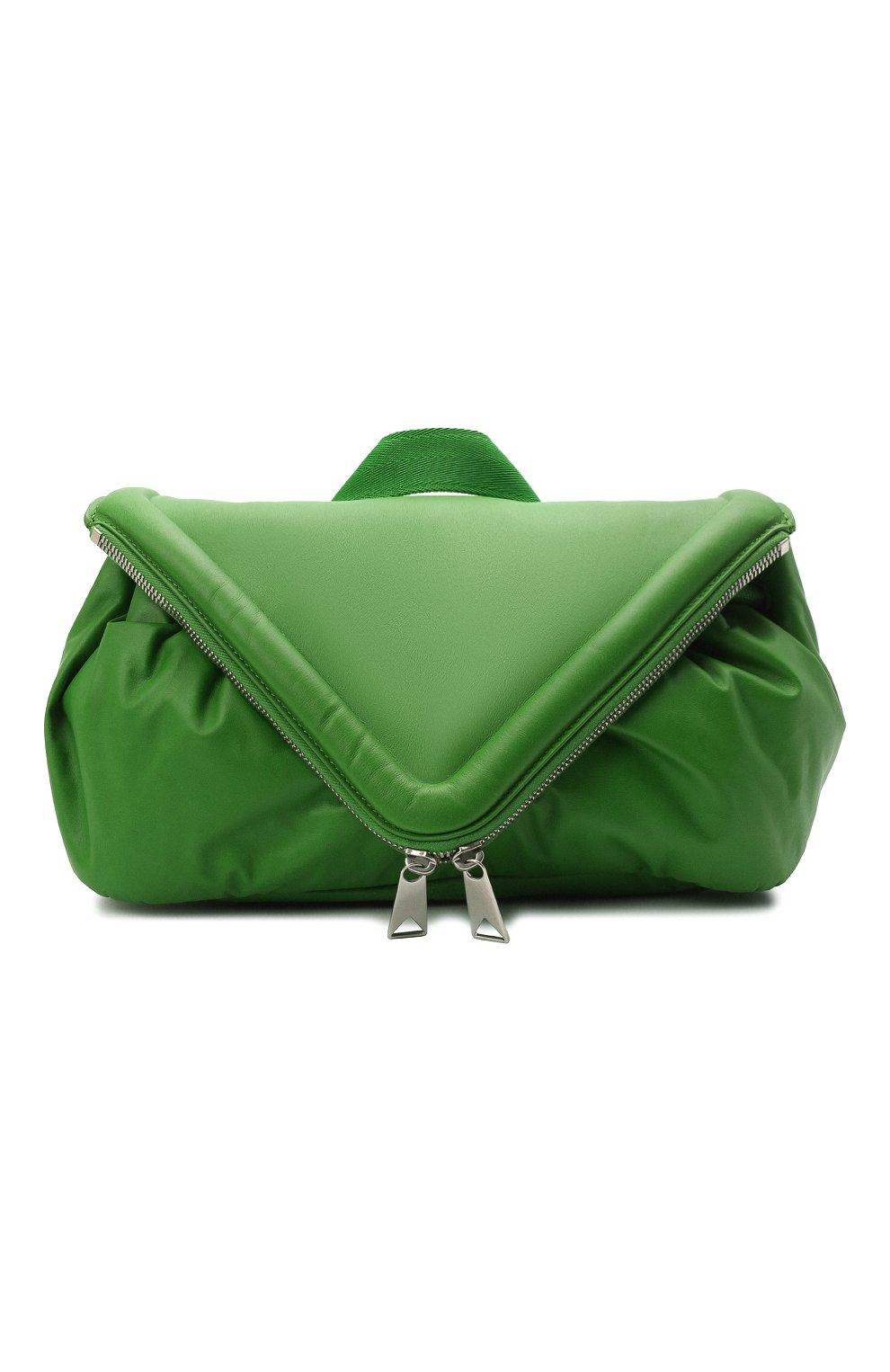 Женская поясная сумка beak BOTTEGA VENETA зеленого цвета, арт. 659419/VA9VD | Фото 1
