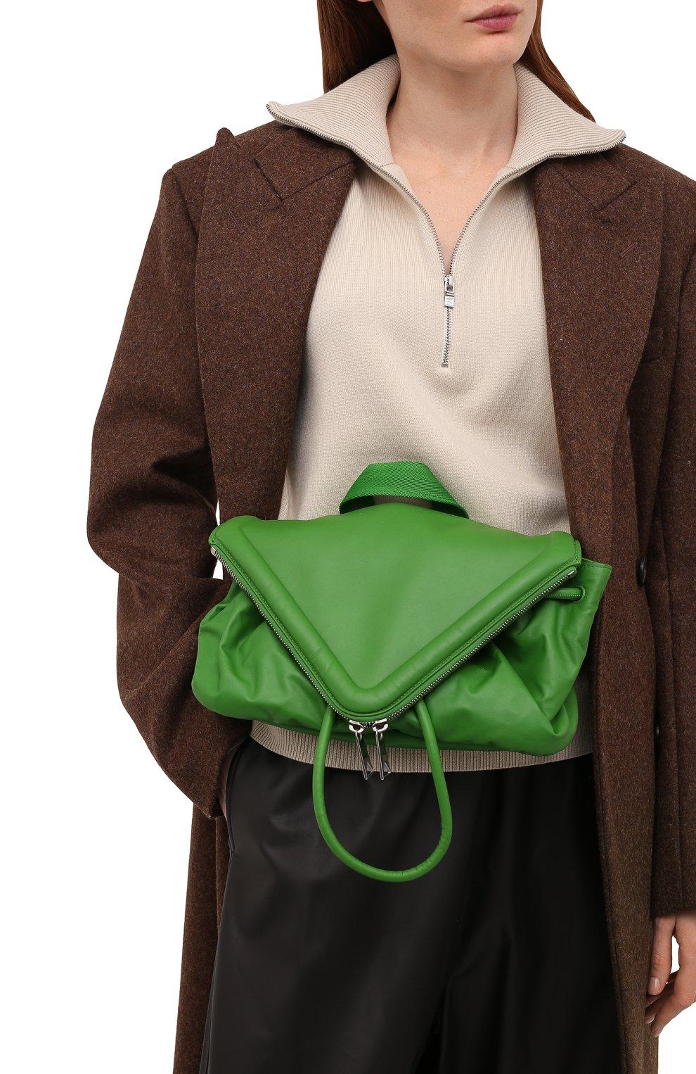 Женская поясная сумка beak BOTTEGA VENETA зеленого цвета, арт. 659419/VA9VD | Фото 2