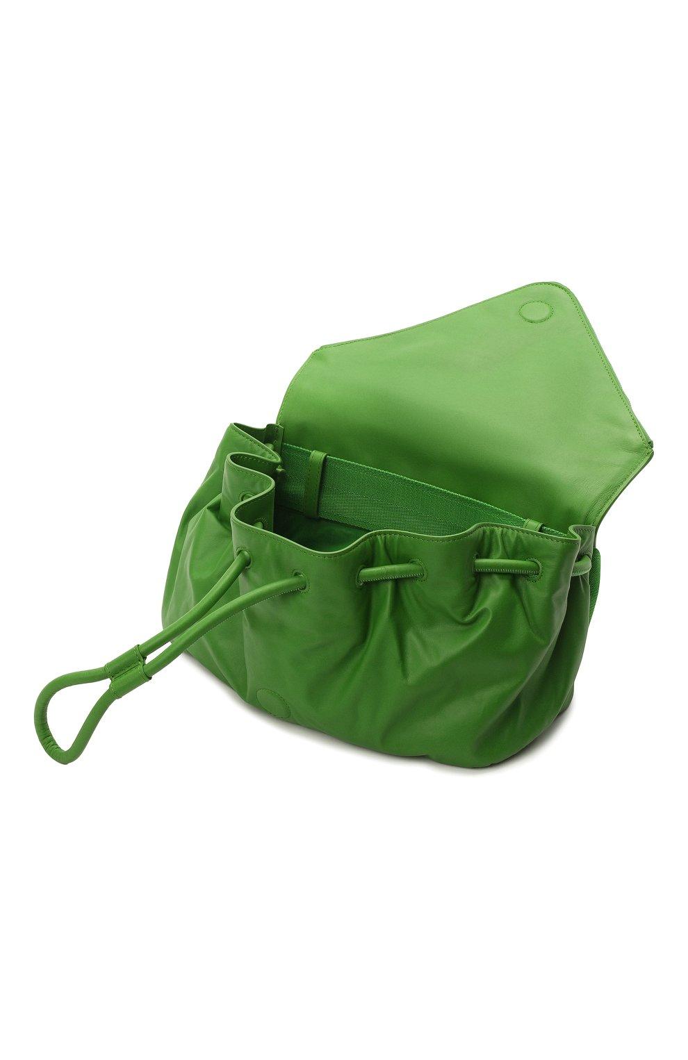 Женская поясная сумка beak BOTTEGA VENETA зеленого цвета, арт. 659419/VA9VD | Фото 4
