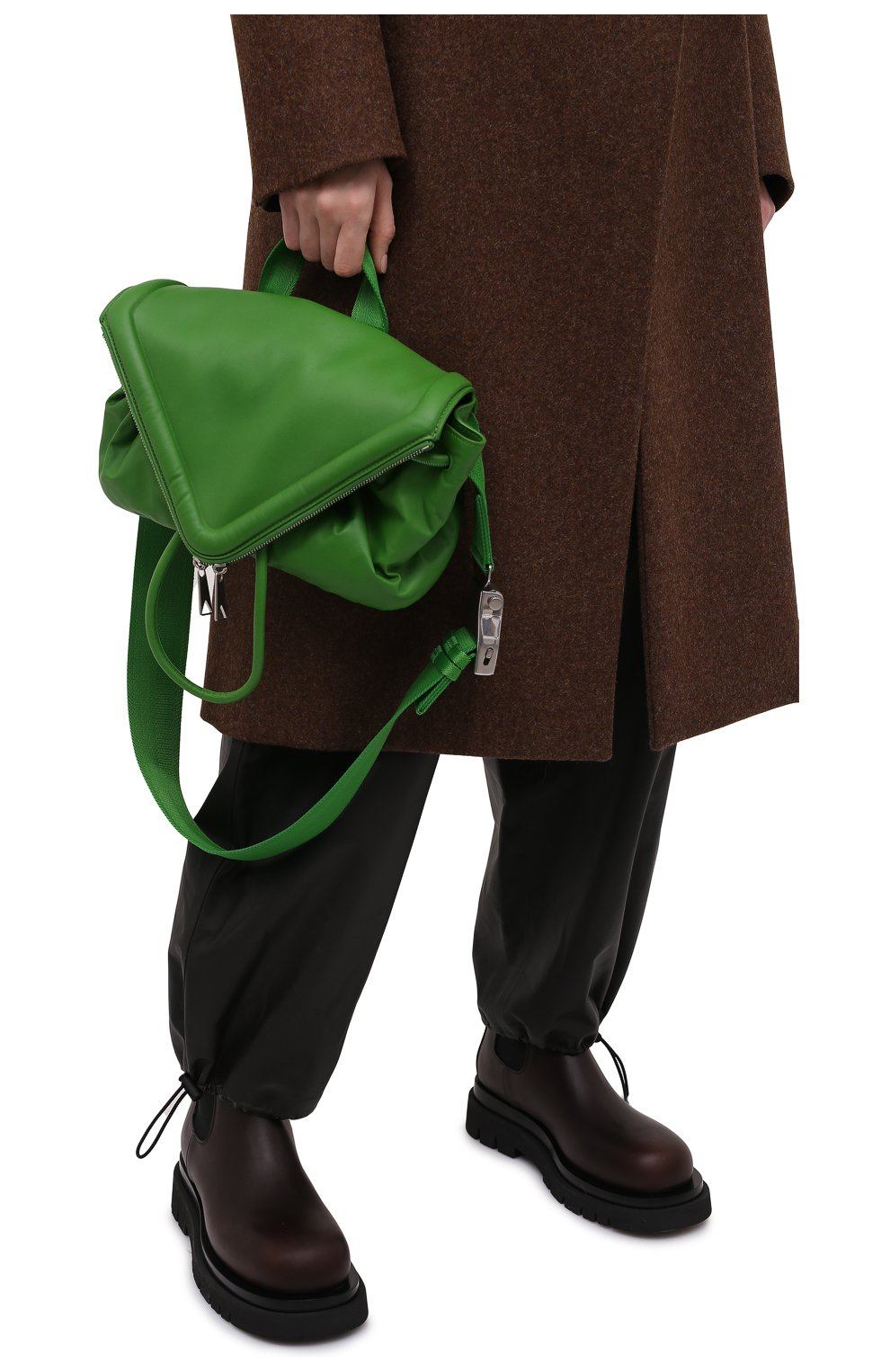 Женская поясная сумка beak BOTTEGA VENETA зеленого цвета, арт. 659419/VA9VD | Фото 6