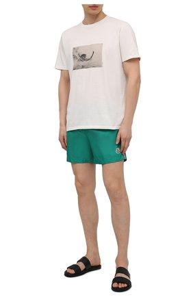 Мужские плавки-шорты MONCLER зеленого цвета, арт. G1-091-2C707-00-53326 | Фото 2