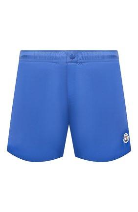Мужские плавки-шорты MONCLER голубого цвета, арт. G1-091-2C707-00-53326 | Фото 1