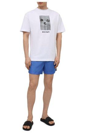 Мужские плавки-шорты MONCLER голубого цвета, арт. G1-091-2C707-00-53326 | Фото 2