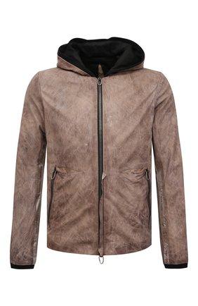 Мужская кожаная куртка DANIELE BASTA коричневого цвета, арт. DB779X01NS/KUNT0 NS   Фото 1