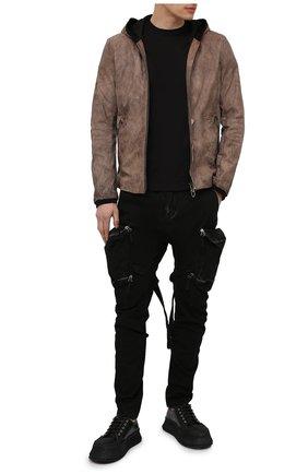 Мужская кожаная куртка DANIELE BASTA коричневого цвета, арт. DB779X01NS/KUNT0 NS   Фото 2