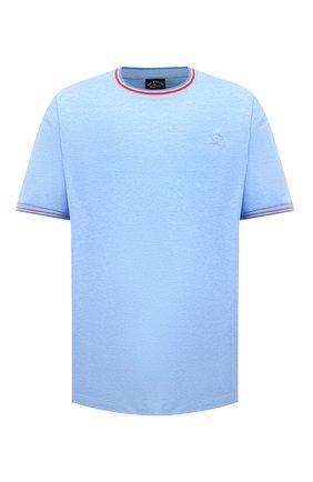 Мужская хлопковая футболка PAUL&SHARK голубого цвета, арт. 21411004/C00/3XL-6XL | Фото 1