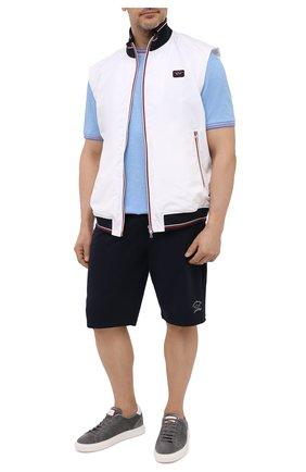 Мужская хлопковая футболка PAUL&SHARK голубого цвета, арт. 21411004/C00/3XL-6XL | Фото 2