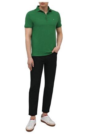 Мужское хлопковое поло VALENTINO зеленого цвета, арт. VV0MH00V3MN | Фото 2