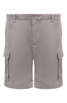 Мужские шорты из хлопка и льна Z ZEGNA светло-серого цвета, арт. VW162/ZZ359 | Фото 1 (Материал внешний: Хлопок; Длина Шорты М: До колена; Принт: Без принта; Мужское Кросс-КТ: Шорты-одежда; Стили: Кэжуэл)