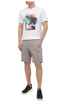 Мужские шорты из хлопка и льна Z ZEGNA светло-серого цвета, арт. VW162/ZZ359 | Фото 2 (Материал внешний: Хлопок; Длина Шорты М: До колена; Принт: Без принта; Мужское Кросс-КТ: Шорты-одежда; Стили: Кэжуэл)