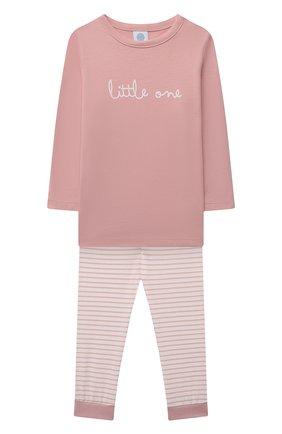 Детская хлопковая пижама SANETTA светло-розового цвета, арт. 221597. | Фото 1