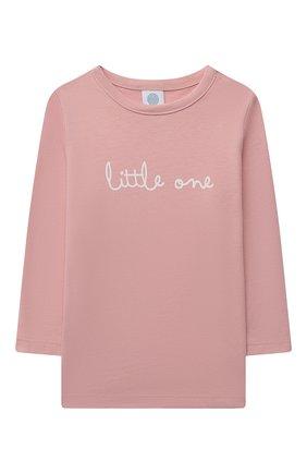 Детская хлопковая пижама SANETTA светло-розового цвета, арт. 221597. | Фото 2