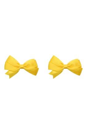 Детская комплект из двух заколок JUNEFEE желтого цвета, арт. 6335 | Фото 1