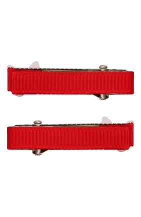 Детская комплект из двух заколок JUNEFEE красного цвета, арт. 6757 | Фото 2