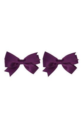 Детская комплект из двух заколок JUNEFEE фиолетового цвета, арт. 6218 | Фото 1