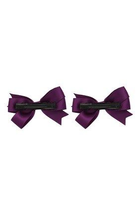 Детская комплект из двух заколок JUNEFEE фиолетового цвета, арт. 6218 | Фото 2