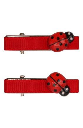 Детская комплект из двух заколок JUNEFEE красного цвета, арт. 6761 | Фото 1