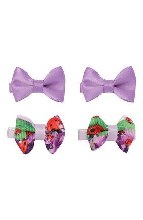Детская комплект из четырех заколок JUNEFEE фиолетового цвета, арт. 6787 | Фото 1