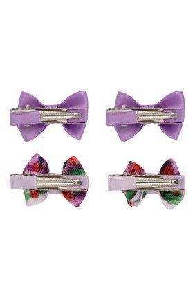 Детская комплект из четырех заколок JUNEFEE фиолетового цвета, арт. 6787 | Фото 2