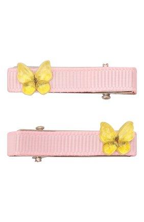Детская комплект из двух заколок JUNEFEE розового цвета, арт. 6759 | Фото 1