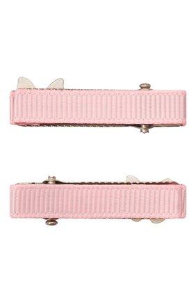 Детская комплект из двух заколок JUNEFEE розового цвета, арт. 6759 | Фото 2