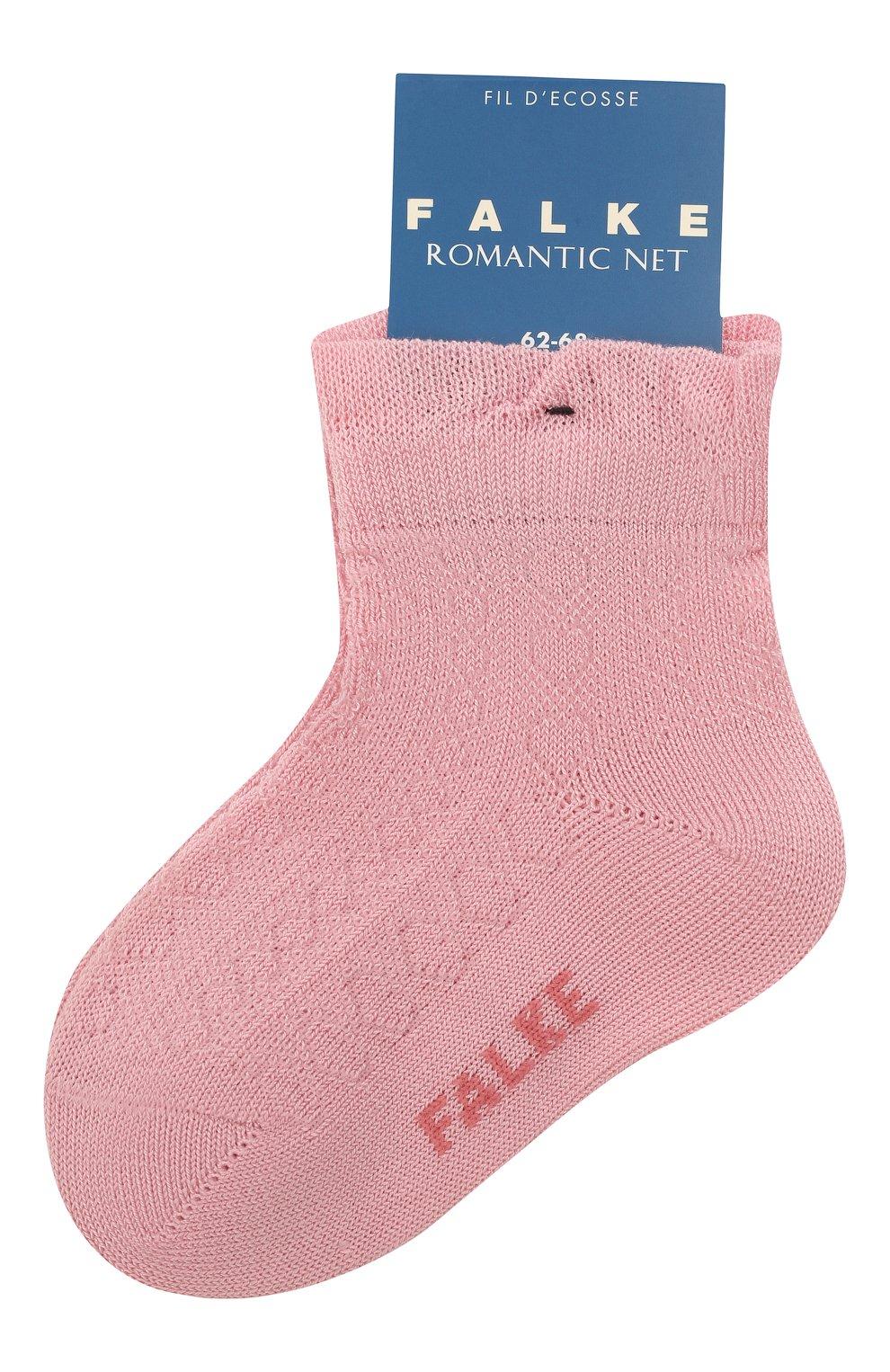 Детские хлопковые носки FALKE розового цвета, арт. 12120. | Фото 1 (Материал: Текстиль, Хлопок)