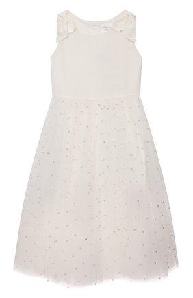 Детское платье CHARABIA белого цвета, арт. S12128 | Фото 1
