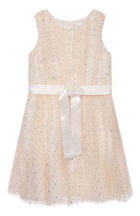 Детское платье CHARABIA молочного цвета, арт. S12144 | Фото 1