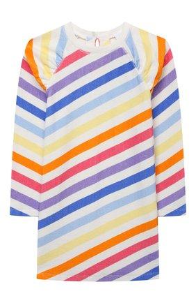 Детское хлопковое платье DOUUOD разноцветного цвета, арт. 21E/U/JR/FA02/3510/10A-14A | Фото 1