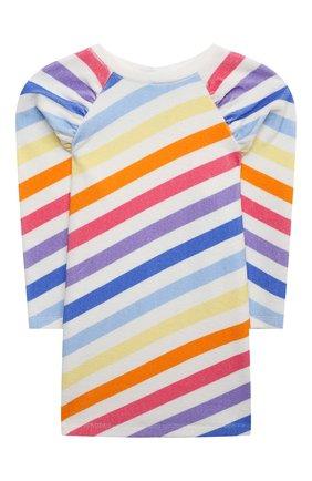 Детское хлопковое платье DOUUOD разноцветного цвета, арт. 21E/U/JR/FA02/3510/3A-8A | Фото 1