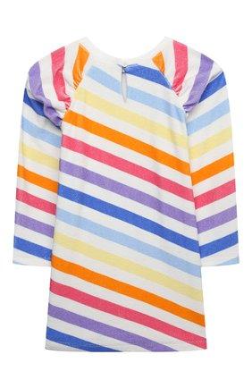 Детское хлопковое платье DOUUOD разноцветного цвета, арт. 21E/U/JR/FA02/3510/3A-8A | Фото 2