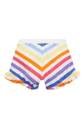 Детские хлопковые шорты DOUUOD разноцветного цвета, арт. 21E/U/JR/FC20/3510/10A-14A | Фото 2