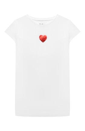 Детская хлопковая футболка DOUUOD белого цвета, арт. 21E/U/JR/TE25/1228/10A-14A | Фото 1