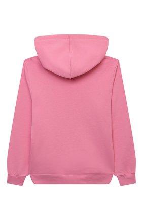 Детский хлопковое худи CHIARA FERRAGNI розового цвета, арт. 21PE-CFKF061 | Фото 2