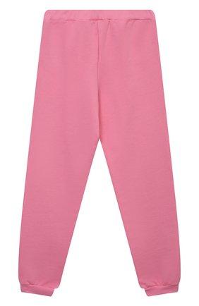Детские хлопковые джоггеры CHIARA FERRAGNI розового цвета, арт. 21PE-CFKP017 | Фото 2