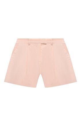 Детские хлопковые шорты ERMANNO SCERVINO розового цвета, арт. ESFBE009 CF473 WS006/M-XL | Фото 1
