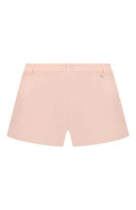Детские хлопковые шорты ERMANNO SCERVINO розового цвета, арт. ESFBE009 CF473 WS006/M-XL | Фото 2
