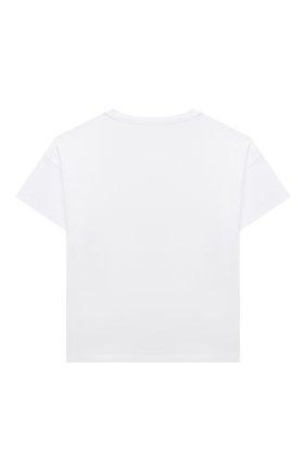 Детская хлопковая футболка ERMANNO SCERVINO белого цвета, арт. ESFTS010 JE95 WS009/XXS-S | Фото 2