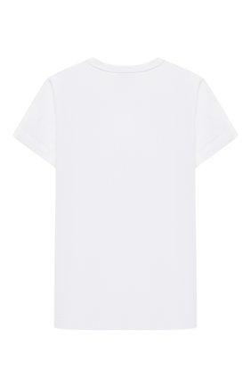 Детская хлопковая футболка ERMANNO SCERVINO белого цвета, арт. ESFTS012 JE95 WSUNI1/XXS-S | Фото 2