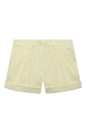 Детские шорты IL GUFO желтого цвета, арт. P21PS008C3125/2A-4A | Фото 1