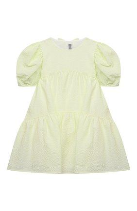 Детское хлопковое платье IL GUFO желтого цвета, арт. P21VM607C0053/2A-4A | Фото 1