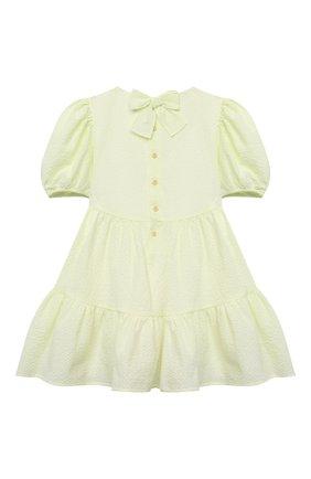 Детское хлопковое платье IL GUFO желтого цвета, арт. P21VM607C0053/2A-4A | Фото 2