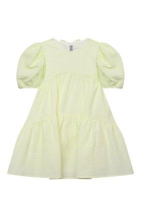 Детское хлопковое платье IL GUFO желтого цвета, арт. P21VM607C0053/5A-8A | Фото 1
